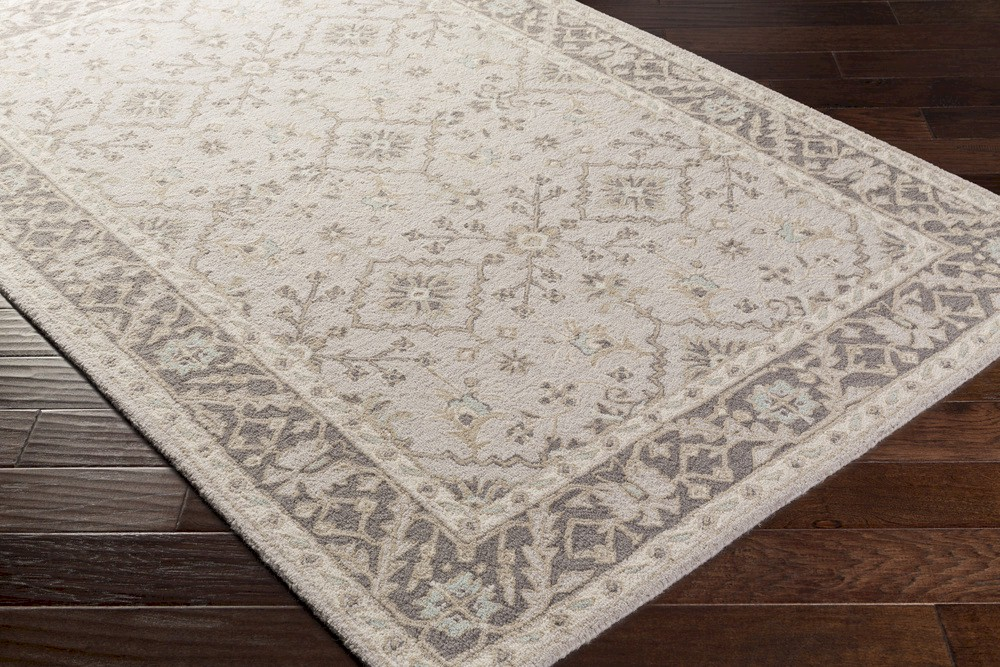 Surya Castille Ctl 2000 Light Grey Charcoal Ivory Taupe