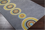 Designer Series DS040034 Grey Tunnels Vision Rug