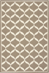 Nourison Decor DER06 TAUWT Taupe/White Area Rug