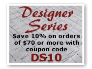 Save 15% on Designer Series Rugs with coupon code DS15.