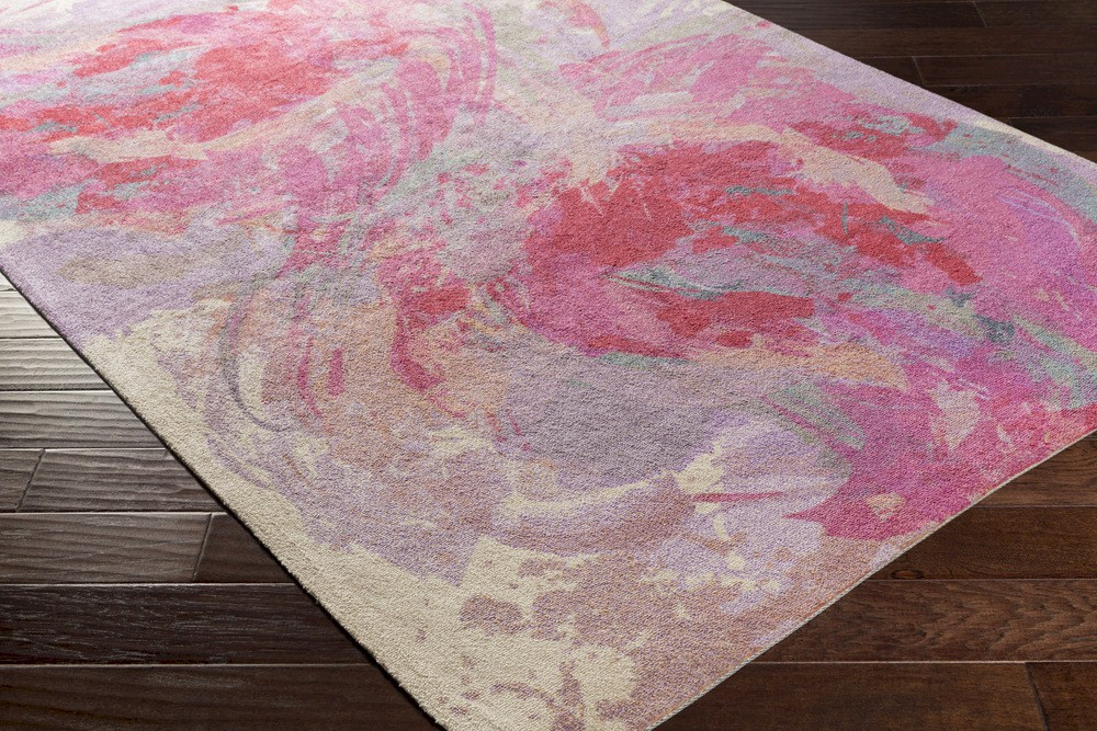 Surya Felicity Fct 8002 Hot Pink Lavender Teal Peach Area Rug