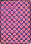 Surya Seventeen Flirty FLT-1032 Pink/Royal Blue Closeout Area Rug - Spring 2011