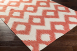 Surya Frontier FT-173 Poppy Red/Winter White Area Rug