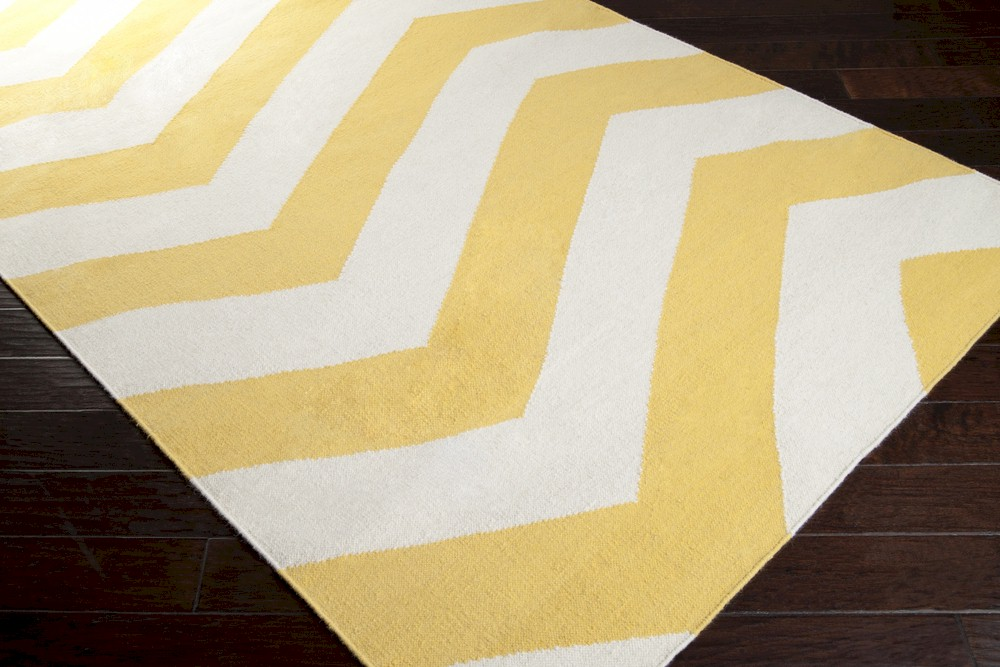 Surya Frontier Ft 278 Sunshine Yellow White Area Rug