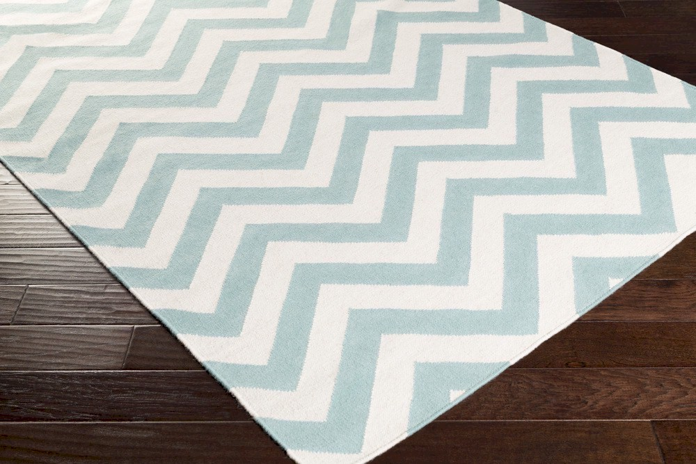 Surya Frontier Ft 454 Teal Ivory Closeout Area Rug Fall 2015