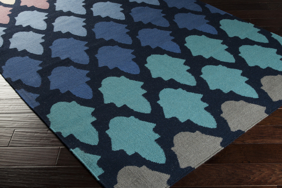 Surya Frontier Ft 461 Navy Teal Charcoal Closeout Area Rug