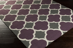 Surya Frontier FT-476 Eggplant/Charcoal/Ivory Closeout Area Rug - Spring 2015