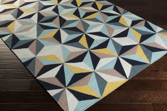 AddThis Sharing Sidebar - Surya Frontier FT-549 Navy/Light Grey/Teal Closeout Area Rug