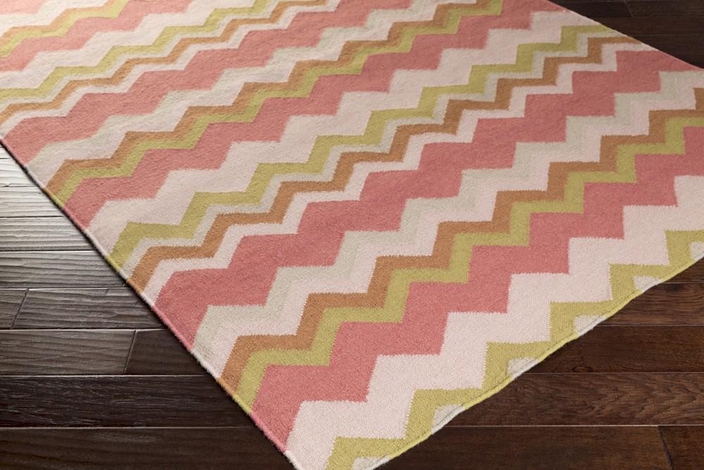 Surya Frontier Ft 601 Coral Gold Light Grey Area Rug