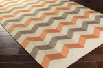 Surya Frontier FT-606 Burnt Orange/Beige/Light Grey Area Rug