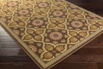 Surya Hathaway HAT-3012 Black/Olive/Gold/Rust/Burgundy Closeout Area Rug