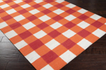 Surya Country Living Happy Cottage HC-5800 White/Orange-Red Closeout Area Rug - Fall 2013