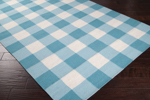 Surya Country Living Happy Cottage HC-5804 White/Aqua/Turquoise Closeout Area Rug - Fall 2013