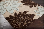 Surya Mugal IN-1227 Off White/Chocolate Closeout Area Rug - Spring 2011