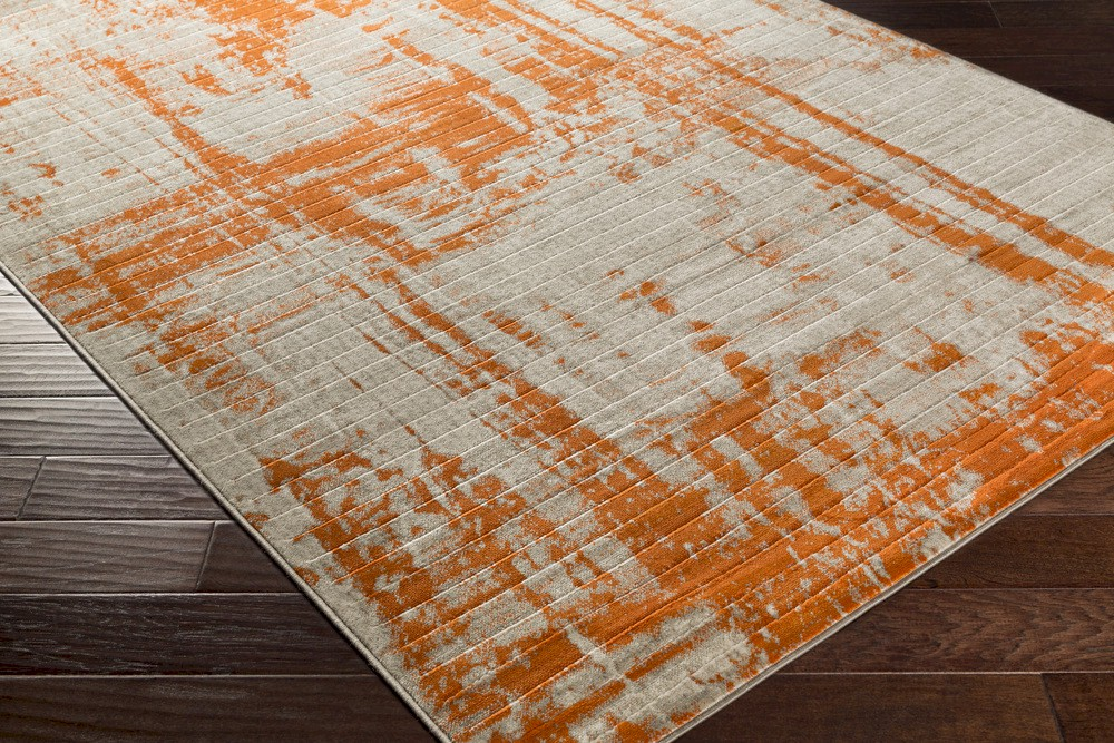 Surya Jax Jax 5032 Light Grey Olive Burnt Orange Area Rug