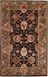 HRI Romance Collection KC-284 Black Closeout Area Rug