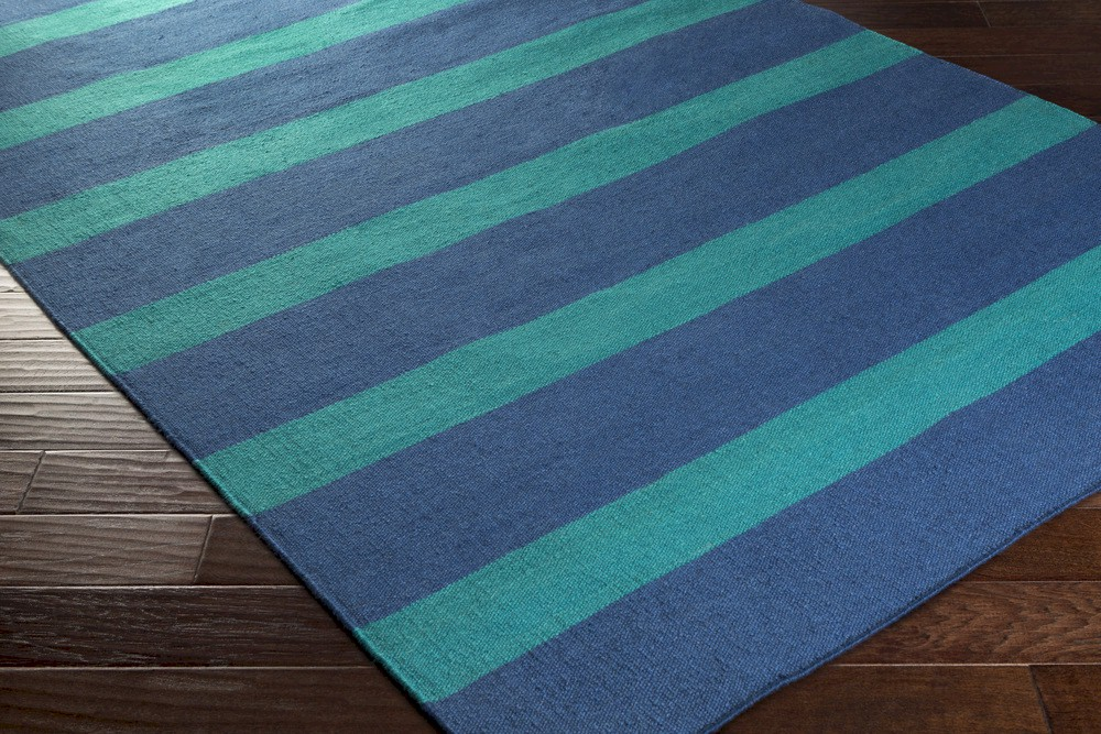 Surya lagoon lgo 2040 navy teal closeout area rug for Navy and teal rug