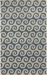Surya Lighthouse LTH-7007 Pacific Blue/Ivory Closeout Area Rug - Fall 2014