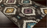 Surya Mamba MBA-9003 Oyster Grey/Mushroom/Ocean Blue Closeout Area Rug - Fall 2015