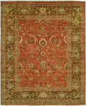 HRI Mahal MJ-15 Rust/Brown Area Rug