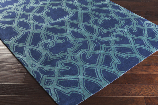 Surya florence broadhurst mount perry mtp 1022 navy teal for Navy and teal rug