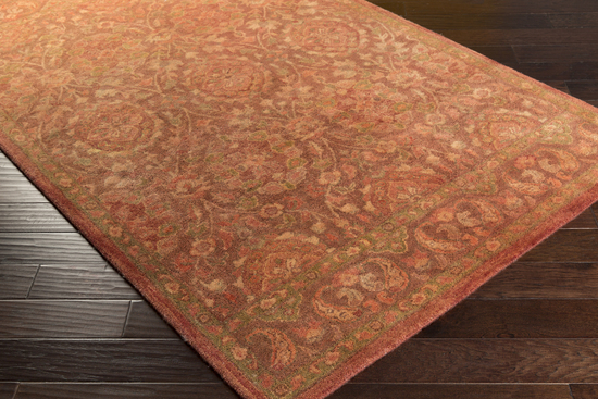 Surya Mykonos Myk 5003 Coral Rust Taupe Closeout Area Rug