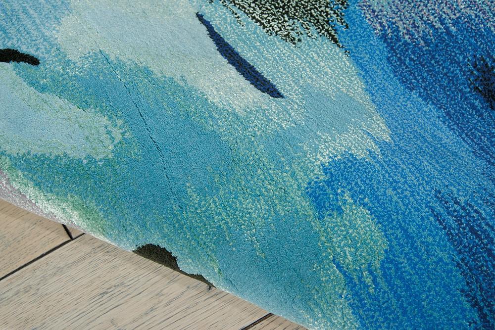 Nourison Prismatic Prs04 Seagl Sea Glass Area Rug Rugs A