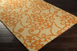 Surya Rain RAI-1195 Burnt Orange/Beige Closeout Area Rug