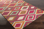 Surya Rain RAI-1207 Hot Pink/Charcoal/Rust/Light Grey Closeout Area Rug - Fall 2015