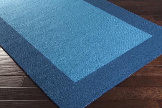 Surya rain rai 1227 teal navy closeout area rug fall 2015 for Navy and teal rug