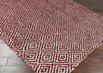 Surya Reeds REED-808 Maroon/Winter White Closeout Area Rug - Fall 2014
