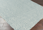 Surya Reeds REED-809 Slate Blue/Winter White Closeout Area Rug