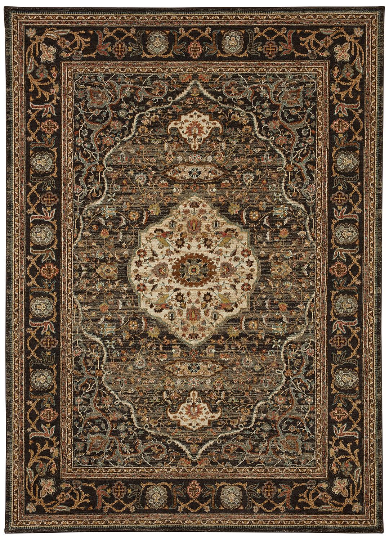 Karastan Spice Market 90661 09097 Petra Charcoal Area Rug