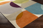 Surya Scion SCI-28 Burnt Orange/Eggplant/Teal/Taupe Area Rug