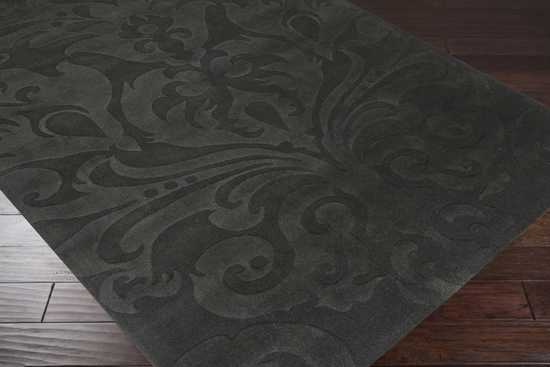 Surya candice olson sculpture scu 7510 grey area rug for Candice olson area rugs