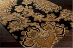 Surya Sea SEA-171 Jet Black/Caramel/Mossy Gold Closeout Area Rug - Fall 2015