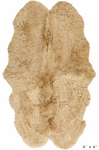 Surya Sheepskin SHS-9601 Gold Area Rug