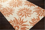Surya Storm SOM-7700 Vanilla/Burnt Orange Closeout Area Rug - Spring 2014