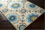Surya Storm SOM-7705 Cream/Powder Blue/Atlantic Blue Area Rug