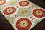 Surya Storm SOM-7711 Antique White/Paprika/Quince Yellow Area Rug