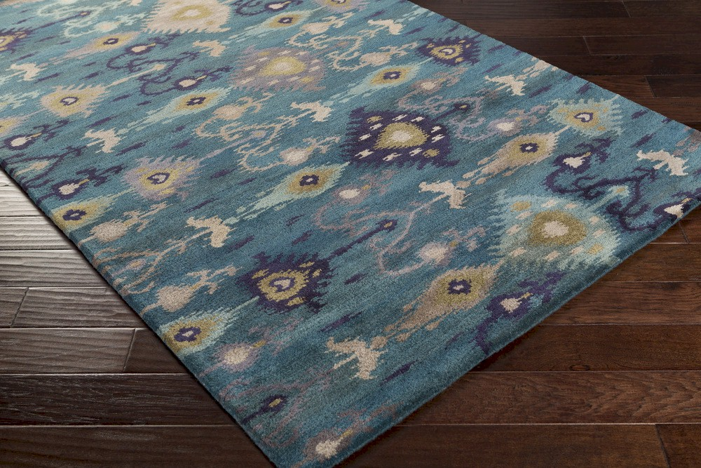 Surya Surroundings Sur 1017 Teal Taupe Navy Area Rug