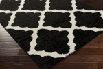 Surya Swift SWT-4013 Black/Ivory Closeout Area Rug