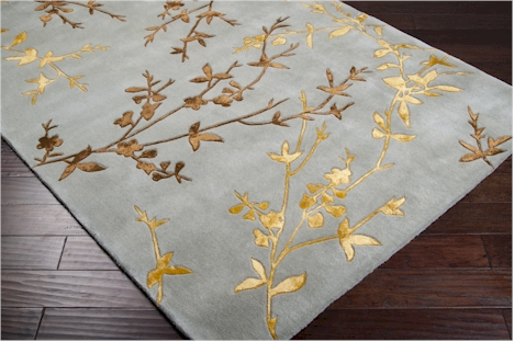 Surya Tamira Tam 1000 Slate Grey Gold Golden Brown Area Rug