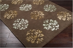 Designer Series DS040039 Brown Silken Medallion Closeout Rug