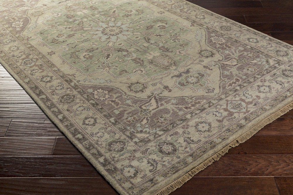 Surya Zeus Zeu 7827 Olive Taupe Light Grey Area Rug