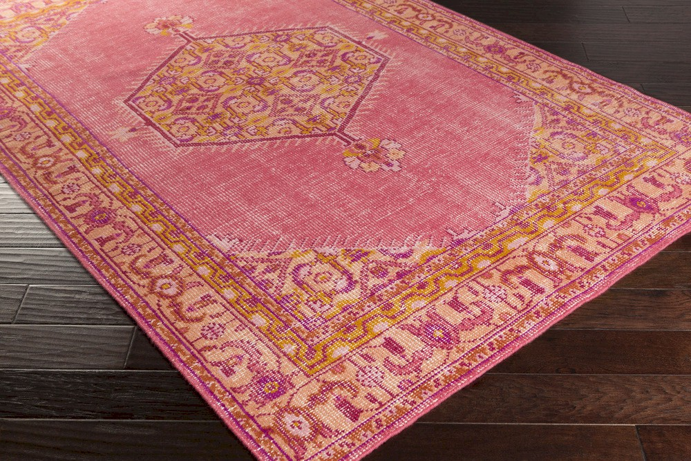 Surya Zahra Zha 4005 Burnt Orange Hot Pink Gold Area Rug