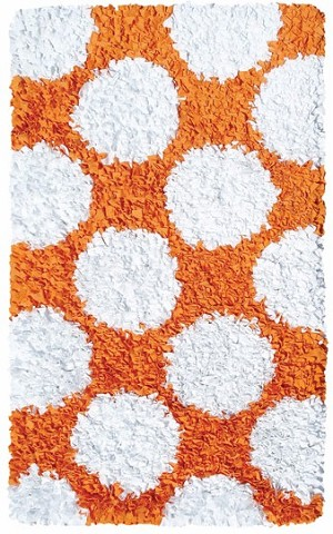 Rug Market Kids 02265 Polkamania Orange/White Closeout Area Rug