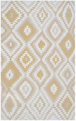 Rug Market Resort 25455 Navajo Yellow/White Closeout Area Rug