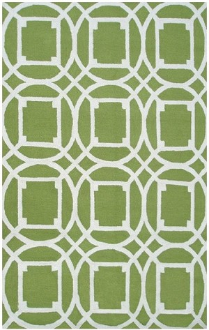 Rug Market Resort 25464 Telescope Green/White Area Rug