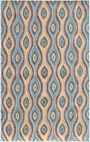 Rug Market Resort 25510 Nazar Brown/Blue/Yellow Closeout Area Rug
